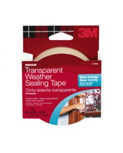 3M™ Interior Transparent Weather Sealing Tape, 30 ft, 2110NA