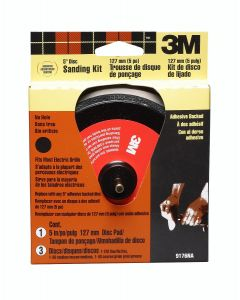 3M™ Mass 5 Inch Kit 9 Includes Backup Pad and 3 Discs