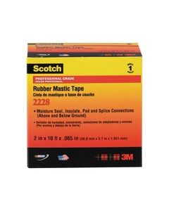 Scotch® Rubber Mastic Tape 2228-1x10FT, 1 in x 10 ft (25 mm x 3, 05 m)