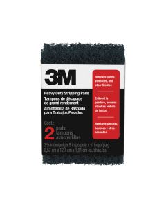 3M™ Heavy Duty Stripping Pads, Two-pack, Open Stock 10111NA, 3-3/8 in. x 5 in. x 3/4 in