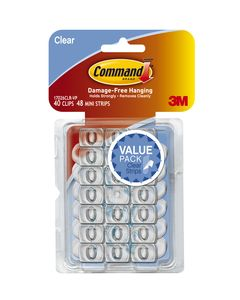 Command™ Decorating Clips with Strips Value Pack 17026CLRVPES Clear