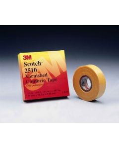 Scotch® Electrical Insulating Varnished Cambric Tape 2510-1x36YD, 1 in x 36 yd (25 mm x 33 m)