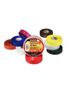 Scotch® Vinyl Electrical Color Coding Tape 35-Gray-1/2, 1/2 in x 20 ft (13 mm x 6, 1 m)