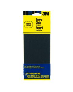 3M™ Emery Cloth Sandpaper 5931ES, 3-2/3 in x 9 in, Assorted grit