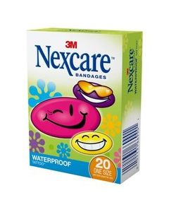 Nexcare™ Tattoo™ Waterproof Bandages, Cool Collection, 594-20, 20 ct. One Size