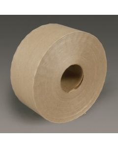3M™ Economy Reinforced Water Activated Tape 6144 Natural, 70 mm x 450', Bulk