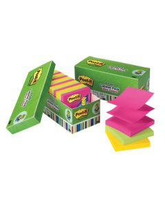 Post-it® Pop-up Notes R330-18AUCP, 3 in x 3 in Assorted Ultra