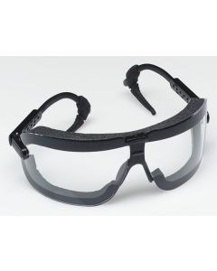 3M™ Fectoggles™ Safety Goggles 16420-00000-10 Clear Lens, Black Temple, Large 10 EA/Case