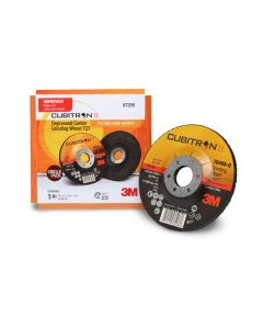 3M™ Cubitron™ II Depressed Center Grinding Wheel, 87209, T27, 4-1/2 in x 1/4 in x 7/8 in, Single Pack, 10 per case