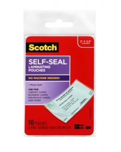 Scotch™ Self-Sealing Laminating Pouches LS851-10G Business card size