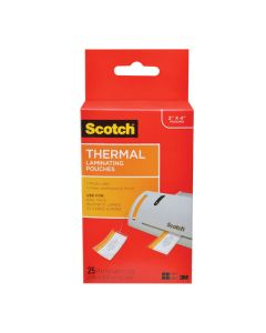 Scotch™ Thermal Pouches TP5853-25, 2.51 in x 4.21 in x 1.5 (64 mm x 107 mm) Luggage Tags with Loop 25 PK
