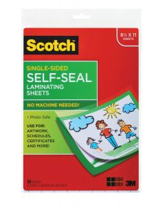 Scotch™ Laminating Sheets LS854SS-50, 9 in x 12 in (228 mm x 304 mm) Letter Size Single Sided