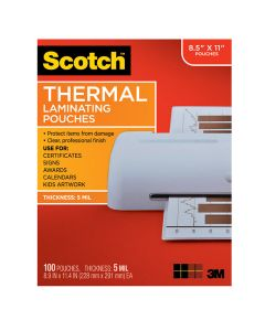 Scotch™ Thermal Pouches 5 mil TP5854-100, 8.9 in x 11.4 in (228 mm x 291 mm)