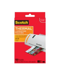 "Scotch™ Thermal Pouches TP5900-100, for 4""x6"" Photos 100 CT"