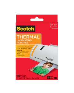 """Scotch™ Thermal Pouches TP5903-100, for 5""""x7"""" Photos 100 CT"""