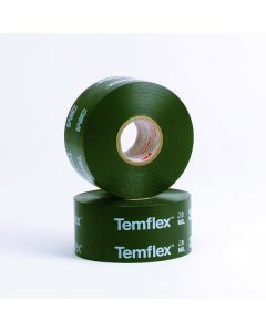 3M™ Temflex™ Vinyl Corrosion Protection Tape 1200, Printed, 2 in x 100 ft, Black, 12 rolls/case
