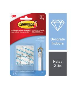 Command™ Clear Medium Wire Toggle Hook 17065CLR-ES