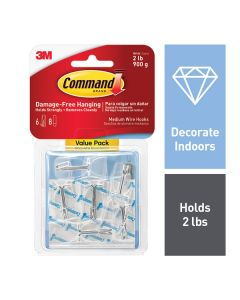 Command™ Clear Medium Wire Toggle Hook Value Pack 17065CLR-VPES