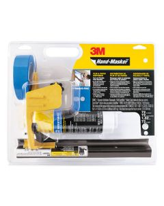 3M™ Hand-Masker™ Pre-assembled Masking Film & Tape Kit M3000-PAK-SC, : 1 M3000 dispenser, 1 FB12-SC film blade, 1 roll of AMF72 Film, 1 roll of ScotchBlue™ Painter's Tape 2090, 1.41 in x 60 yd (36 mm x 54,8 m)