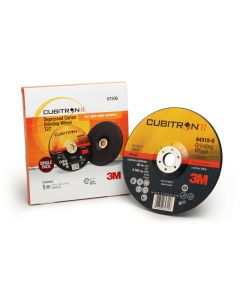 3M™ Cubitron™ II Depressed Center Grinding Wheel, 87206, T27, 7 in x 1/4 in x 7/8 in, Single Pack, 10 per case