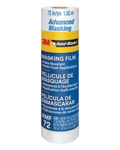 3M™ Hand-Masker™ Advanced Masking Film, AMF72-8C, 72 in x 90 ft x .35 mil (1.82 m x 27.4 m x .00889 mm)