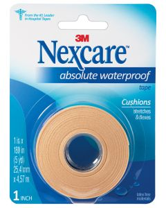 Nexcare™ Absolute Waterproof First Aid Tape, 731, 1 in x 5 yds