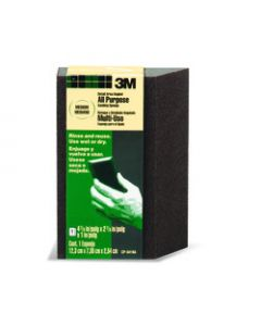 3M™ Detail Area and Angled Sanding Sponge CP040, 4.875 in x 2.875 in x 1 in, Fine