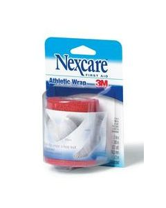 Nexcare™ Athletic Wrap, CR-3R, Red, 3 in x 5 yds stretched