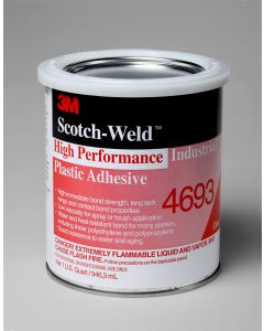 3M™ Scotch-Weld™ High Performance Industrial Plastic Adhesive 4693H Clear, 5 oz Tube
