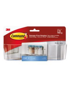 Command™ Clear Medium Caddy with Clear Strips HOM-14