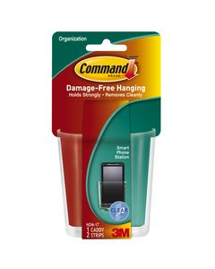 Command™ Clear Smart Phone Station with Clear Strips HOM-17