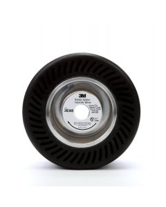 3M™ Rubber Slotted Expander Wheel 28348, 5 in x 3-1/2 in 5/8 in Arbor Hole