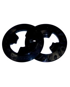 3M™ Disc Pad Face Plate Ribbed 28657, 4 in Hard Black