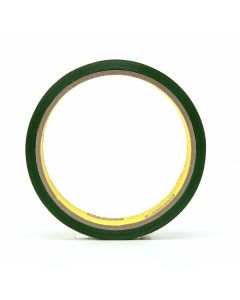 """3M™ Riveters Tape 685 Transparent with Green Adhesive, 1"""" x 36 yd, 36 per c"""