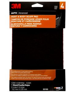 3M™ Paint and Body Scuff Pad, 03193, 6 in x 9 in