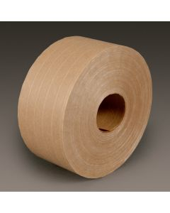 3M™ Medium Duty Reinforced Water Activated Tape 6146 Natural, 72 mm x 450', Bulk