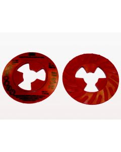 3M™ Disc Pad Face Plate Ribbed 28656, 4 in Extra Hard Red