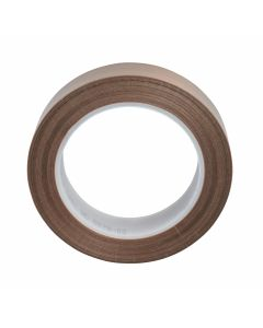 3M™ PTFE Glass Cloth Tape 5451 Brown, 1/2 in x 36 yd 5.3 mil Boxed