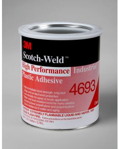3M™ Scotch-Weld™ High Performance Industrial Plastic Adhesive 4693 Light Amber, 1 gal