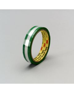 """3M™ Riveters Tape 685 Transparent with Green Adhesive, 3/4"""" x 36 yd, Bulk"""