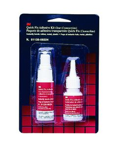 3M™ Quick Fix Adhesive Kit, 08224, 0.7 oz adhesive/2.0 oz accelerator