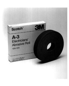Scotch® Electrician's Abrasive Roll A-3, 1 in x 25 yd/Grit 120 J-weight