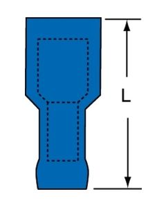 3M™ Scotchlok™ Female Disconnect, Heat Shrink Fully Nylon Insulated Butted Seam MNHU14-250DFIK, 16-14 AWG