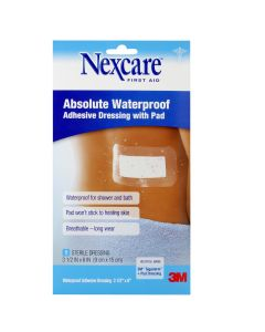 Nexcare™ Absolute Waterproof Adhesive Dressing with Pad W3589, 3 1/2 in x 6 in